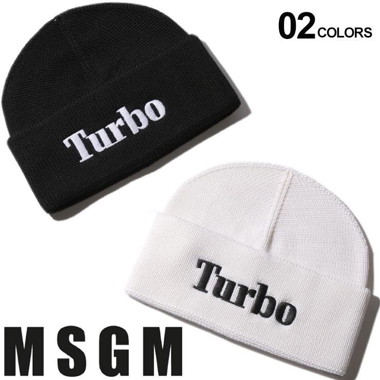 MSGM エムエスジーエム ニットキャップ ウール Turbo ロゴ 刺繍 ニット帽 ブランド メンズ レディース 帽子 キャップ MS2740ML08 SALE_6_b