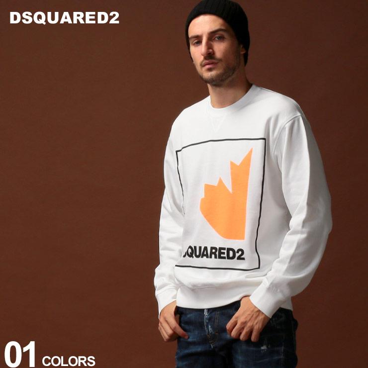 ディースクエアード DSQUARED2 スウェット トレーナー メープル ロゴ プリント クルーネック ブランド メンズ トップス スエット D2GU0347S25305