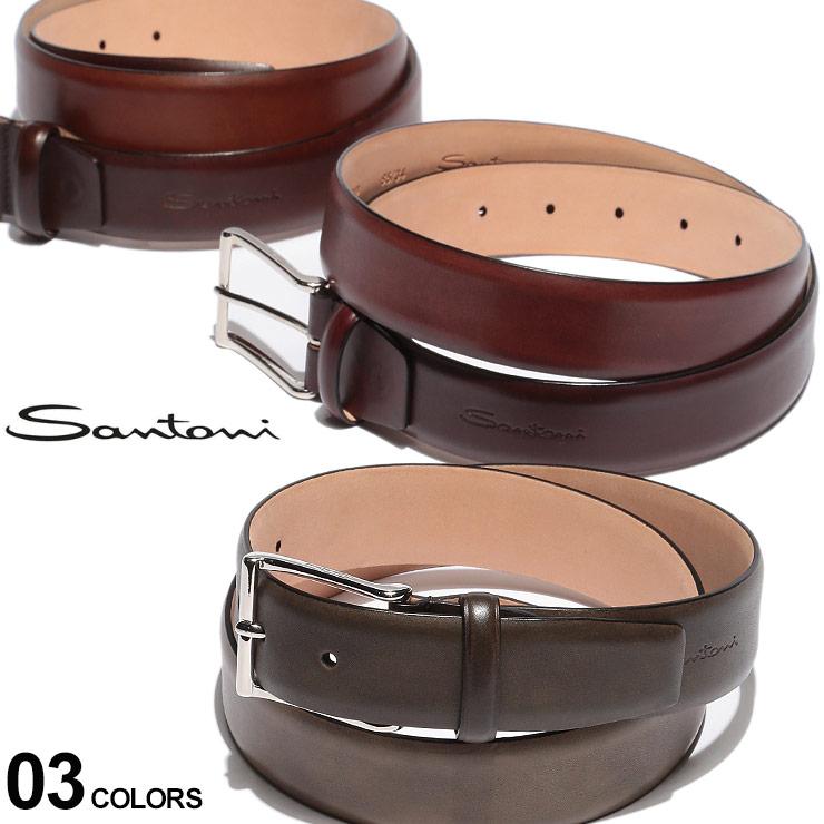 サントーニ メンズ ベルト SANTONI レザー ピンバックル ブランド レザーベルト 本革 SAS003OBR SALE_6_a