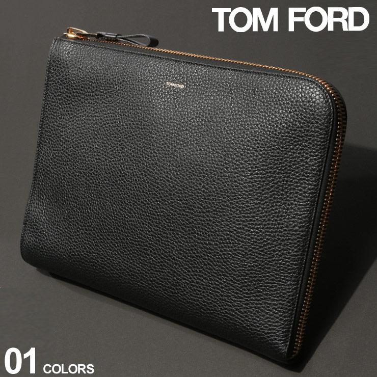 トム フォード メンズ バッグ TOM FORD クラッチバッグ レザー ゴールドジップ ブランド 鞄 本革 ハンドバッグ TFH0355TCG8 SALE_5_a