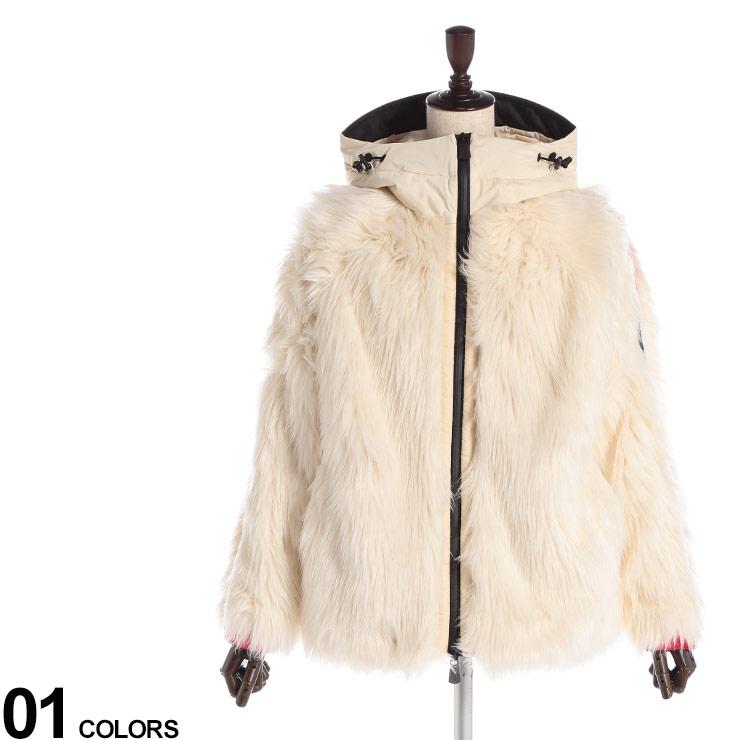 モンクレール レディース アウター MONCLER GRENOBLE ファージャケット フェイクファー フード パーカー 中綿 ブランド ブルゾン MCLGN84533899A7