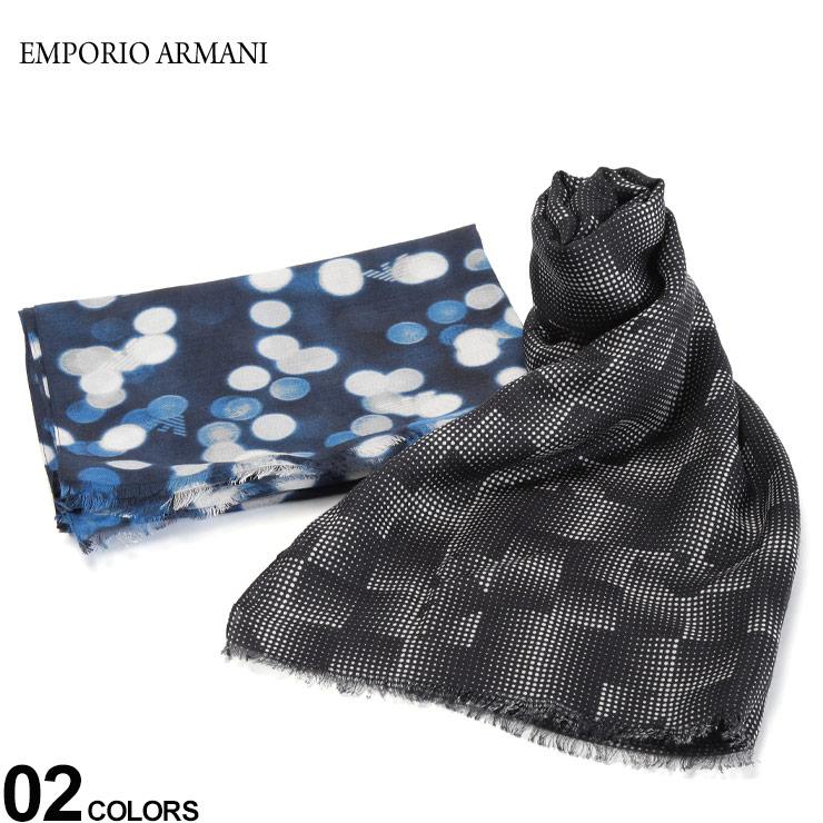 EMPORIO ARMANI エンポリオ アルマーニ 店内限界値引き中 セルフラッピング無料 メンズ ストール 無料クリスマスラッピング対象 ロゴ EA6252630P372 SALE_6_e スカーフ 新作販売 レーヨン ビスコース ブランド