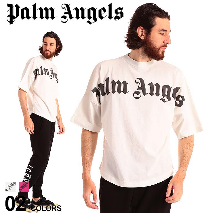 Tシャツ プリント メンズ SALE_1_a ブランド ビッグシルエット FRONT ロゴ トップス PAAA02R20413001 パームエンジェルス ロゴT OVER Angels プリントT クルーネック Palm LOGO 半袖