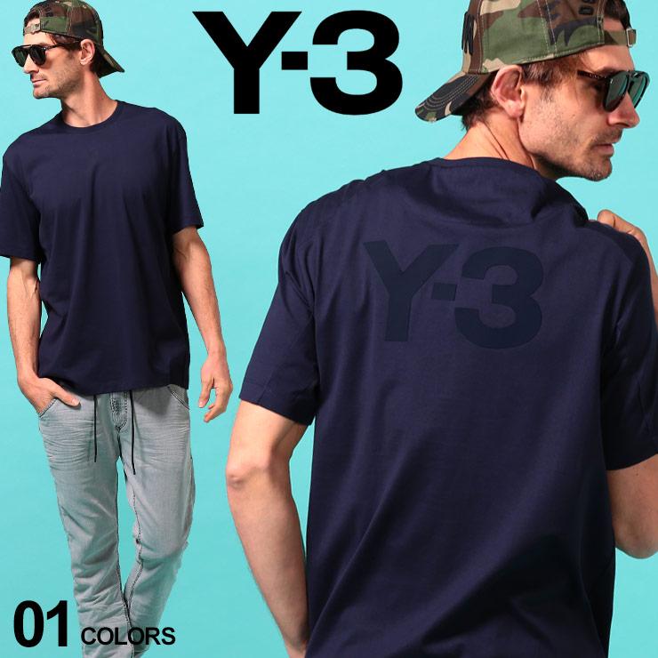 Y-3 ワイスリー 税込 メンズ Tシャツ 半袖 ロゴ 男女兼用 バックプリント クルーネック BACK LOGO プリントT Y3FN3350 TEE ブランド ヨウジヤマモト Yohji トップス ロゴT SS Yamamoto