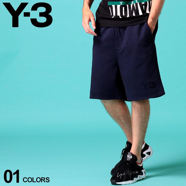 Y-3 ワイスリー メンズ ショートパンツ [並行輸入品] スウェット ロゴ プリント ショーツ ハーフパンツ Y3FN3396 Yamamoto 送料無料新品 ブランド ボトムス Yohji スエット