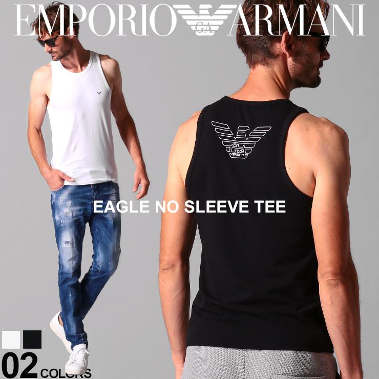 EMPORIO ARMANI エンポリオ アルマーニ メンズ ノースリーブ 人気ショップが最安値挑戦 タンクトップ バックプリント インナー トップス ロゴ EA110828CC735 イーグル 国内送料無料 SALE_1_a ブランド ストレッチ