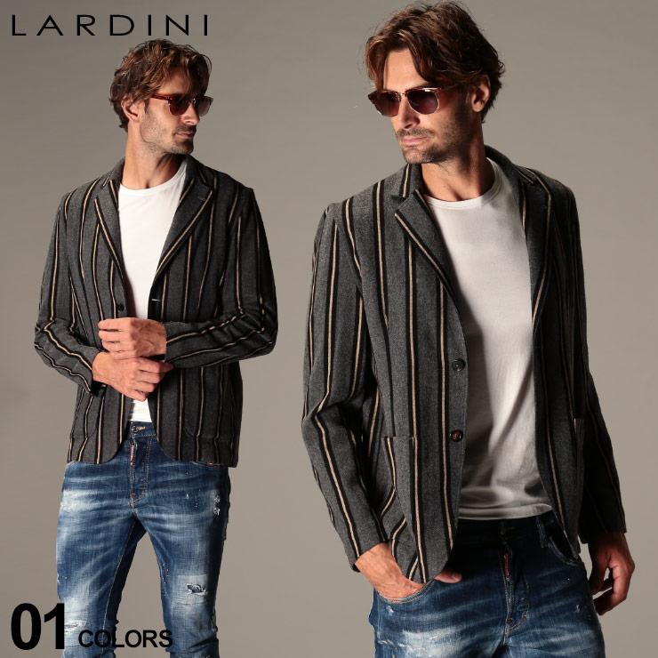 ニットジャケット 2ツ釦 メンズ アウター シングル LDAMAJIMC1291 ブランド ジャケット LARDINI SALE_2_c ストライプ ラルディーニ テーラード