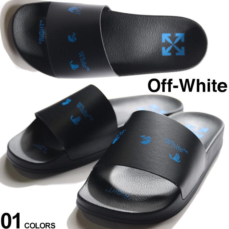 2021年春夏新作 OFF-WHITE オフホワイト メンズ サンダル ロゴ プリント OW 超安い 買い取り シャワーサンダル ブランド スライドサンダル OWIC01R21MAT001 LOGO