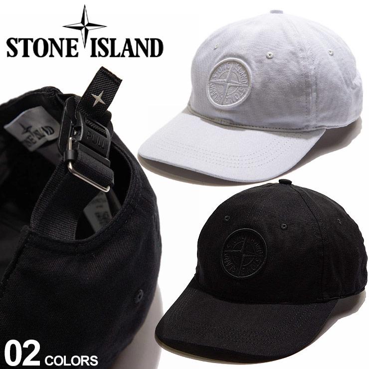 2021年春夏新作 STONE ISLAND ストーンアイランド メンズ 帽子 キャップ ロゴ 代引き不可 直営店 コットン マグネットアジャスター SI741599468 ワッペン 6パネル ブランド