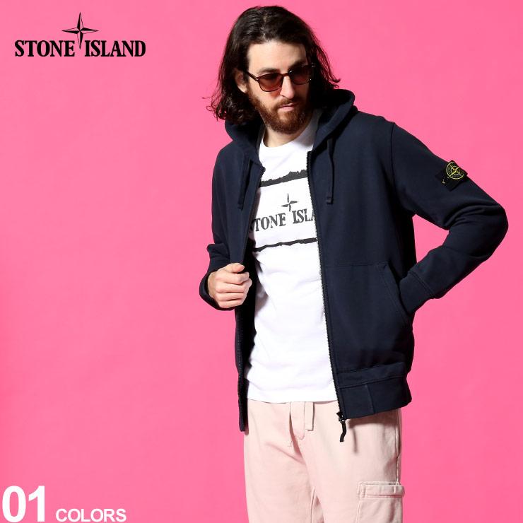 2021年春夏新作 STONE ISLAND ストーンアイランド メンズ パーカー ロゴ スウェット フルジップ 在庫処分 SI741564251 SALE_1_e フード ブランド スエット ジップパーカー トップス 紺 優先配送