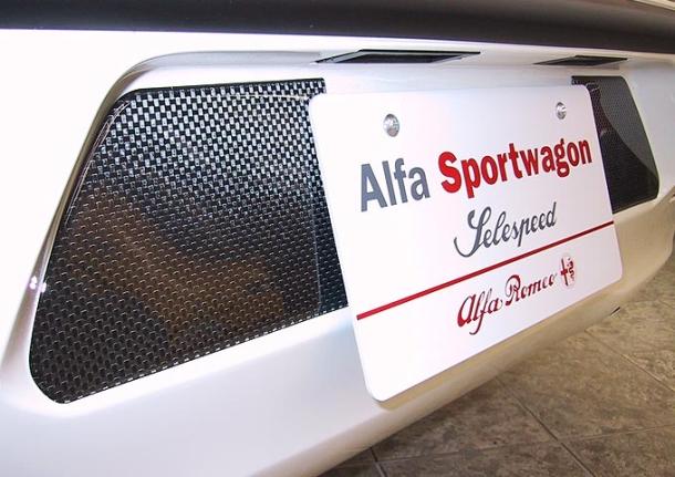 【メーカー直送品】アルカボ カーボン・ナンバープロテクター AR156/Sportwagon/156GTA AL-006(沖縄・離島不可)