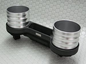 【メーカー直送品】ALCABO/アルカボBMW Z4シリーズ(右/左ハンドル車) E89 ノンスモーカーパッケージ車用ドリンク&ポケットホルダー シルバー カップ タイプ AL-B114S(沖縄・離島不可)