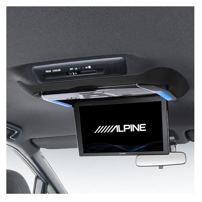 延長保証対応店 ALPINE/アルパイン エスティマ専用 12.8型リアビジョン用パーフェクトフィット 大型ムーンルーフ無し車用 KTX-Y4005BK 4958043233663