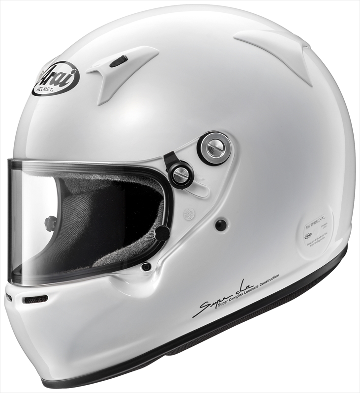 【送料無料】Arai/アライ 四輪用ヘルメット GP-5W 8859 (59) 白 Super cLc構造 4530935426980