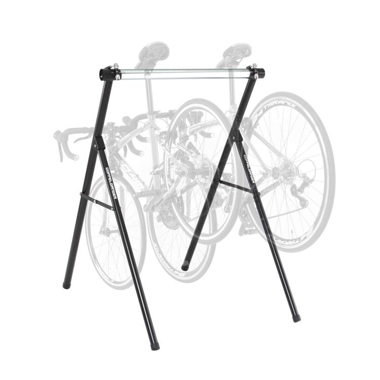 DOPPELGANGER(ドッペルギャンガー) サドル掛けスタンド 2台掛け自転車ラック 軽量・折りたたみ 6.75kg コンパクト設計 幅840mm DDS349-BK 4589946135190