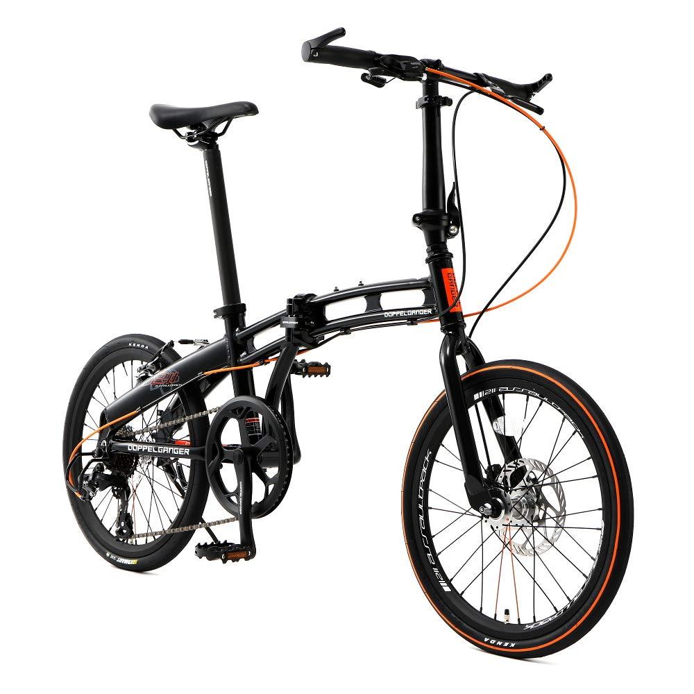 DOPPELGANGER(ドッペルギャンガー) 【 Blackmax シリーズ 】 ASSAULTPACK 20インチ 折りたたみ自転車 シマノ7段変速 アルミフレーム ブラック×OR 211-R-DP 4589946139396