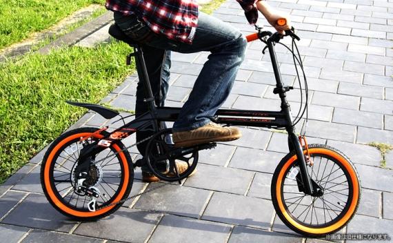【メーカー直送品】DOPPELGANGER / ドッペルギャンガー 16インチアルミ折りたたみ自転車 104 blackbullet2 送料無料(北海道・沖縄・離島除く) 4582143464735
