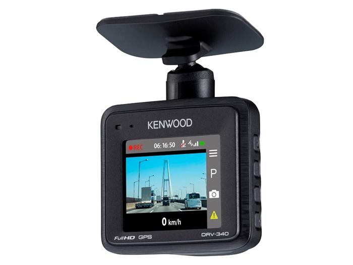ケンウッド ドライブレコーダー DRV-340 フルハイビジョン(1920×1080)録画 Gセンサー GPS HDR搭載ドラレコ 駐車監視/長時間駐車録画対応 microSDHCカード(16GB)付属