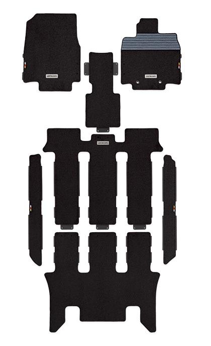 【メーカー直送品】無限 スポーツマット RP1・2・3・4 キャプテンシート用 ブラック STEP WGN 1504~ 08P15-XNB-K0S0-BK 4527377245613