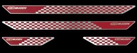 【メーカー直送品】無限 スカッフプレート GP5/GK3・4・5・6 レッド SHUTTLE 1505~ 84200-XMK-K0S0-RD 4527377222157