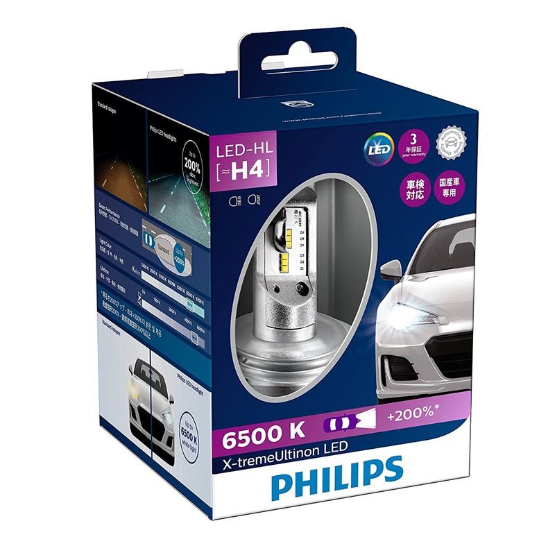 PHILIPS フィリップス X-treme Ultinon LED H4 ヘッドランプ 6500K 12901HPX2JP