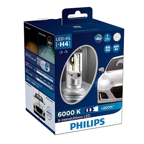 PHILIPS フィリップス X-treme Ultinon LED H4 ヘッドランプ 6000K 12953BWX2JP