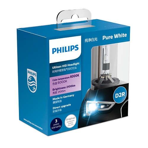 PHILIPS フィリップス Ultinon HID D2R ヘッドランプ 6000K 85126WXX2JP