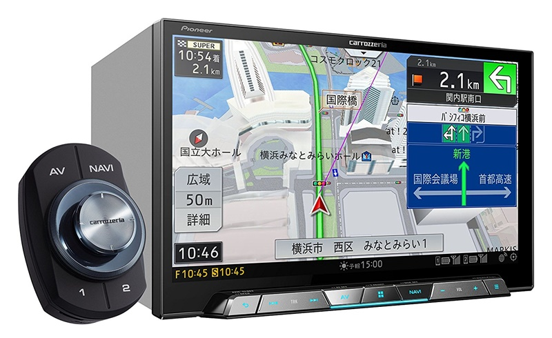パイオニア 8V型ワイドXGA地上デジタルTV/DVD-V/CD/Bluetooth/USB/SD/チューナー・DSP AV一体型メモリーナビゲーション AVIC-CL902 4988028402401