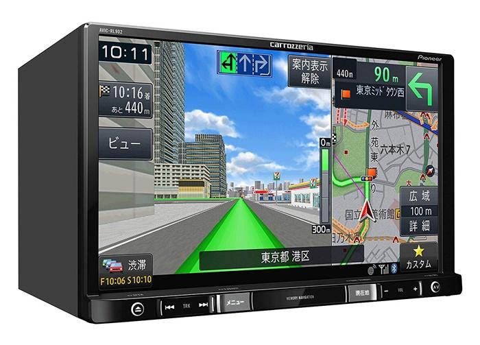 パイオニア 8V型ワイドVGA地上デジタルTV/DVD-V/CD/Bluetooth/SD/チューナー・DSP AV一体型メモリーナビゲーション AVIC-RL902 4988028411762
