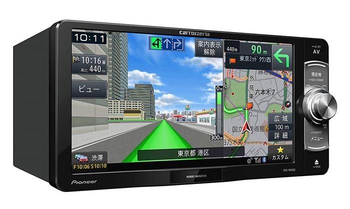 パイオニア 7V型ワイドVGA地上デジタルTV/DVD-V/CD/Bluetooth/SD/チューナー・DSP AV一体型メモリーナビゲーション AVIC-RW902 4988028411816