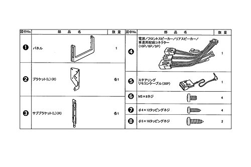 パイオニア トヨタ タンク/ルーミー ダイレクト接続用取付キット KK-Y202DK 4985285801350