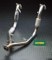 SYMS/シムスレーシング フロントパイプ Y080144013 レガシィ(BD/BG/BE/BH)ATキャタ付