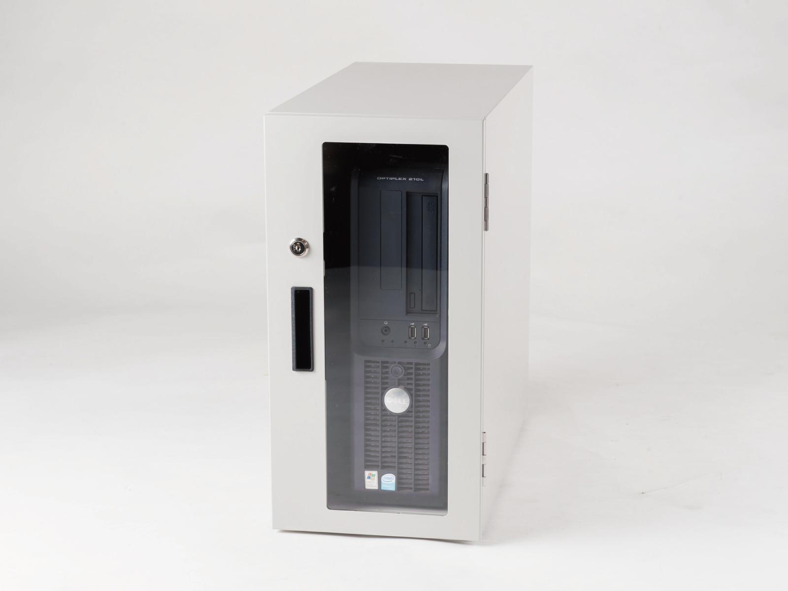 送料無料 防塵ラック PCケース ホコリ 排熱 盗難防止 工場使用可 セイテック Tidy Box CPU 4UW ライトグレー