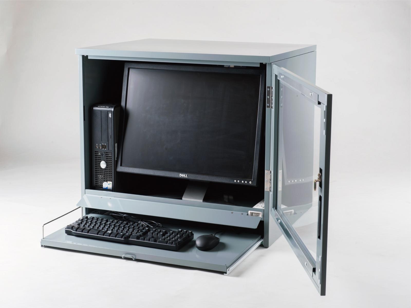 送料無料 防塵ラック PCケース ホコリ 排熱 盗難防止 工場使用可 セイテック Tidy Box CRT G5 グレー