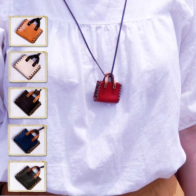 Product made in / Japan which lien/ accessory / Lady's / fashion  miscellaneous goods / miniature leather / tote bag necklace / cowhide /  genuine