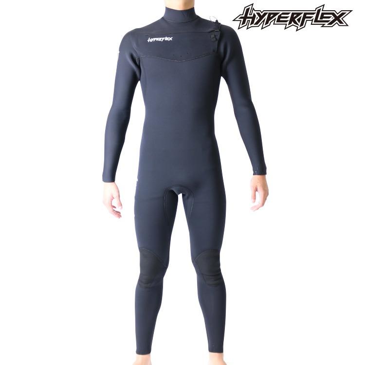 ハイパーフレックス ウェットスーツ メンズ 4×3mm チェストジップ フルスーツ ウエットスーツ サーフィンウェットスーツ Hyperflex Wetsuits