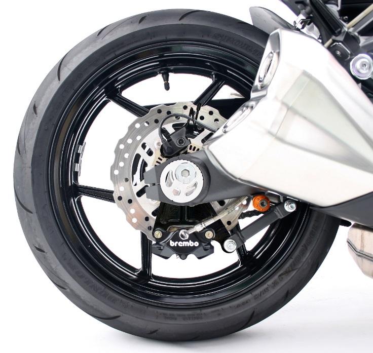 Z1000/ABS(14~16年) リアキャリパーサポート ブラック(bremboブレンボ 2POT&スタンダードローター径) ACTIVE(アクティブ)