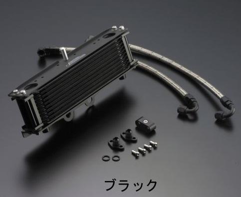 W800 オイルクーラーキット ストレート #6ホース 4.5インチ-7段 ブラック ACTIVE(アクティブ)