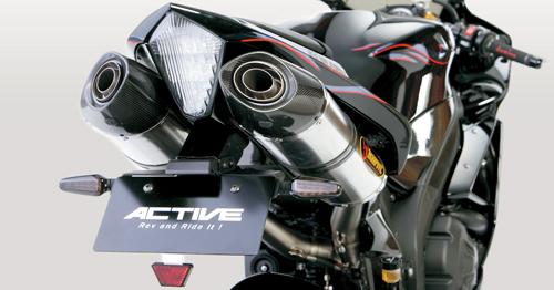 YZF-R1(04~08年) フェンダーレスキット ブラック LEDナンバー灯付 ACTIVE(アクティブ)