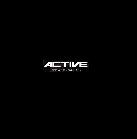 FTR223(00~07年) ストレートオイルクーラー#6 4.5-7R用ホースセット(縦)ブラック仕様 ACTIVE(アクティブ)