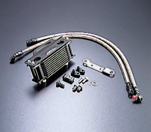 VTR1000F オイルクーラーキット ストレート #6 4.5-10R ブラック仕様 ACTIVE(アクティブ)