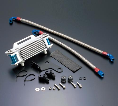 XR250/BAJA(95~07年)/モタード(03~07年) オイルクーラーキット(縦)ストレート #6 4.5-7R ACTIVE(アクティブ)