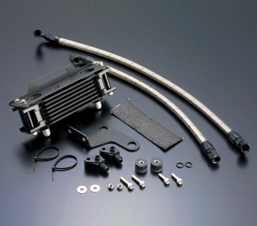 XR250/BAJA(95~07年)/モタード(03~07年) オイルクーラーキット(縦)ストレート #6 4.5-7R ブラック仕様 ACTIVE(アクティブ)