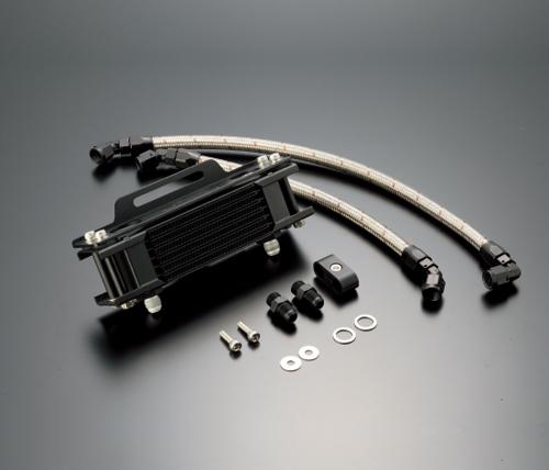 SRX600(85~89年) オイルクーラーキット ストレート #6 4.5-7R ブラック仕様 ACTIVE(アクティブ)