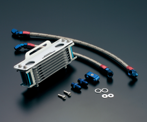 SRX400(87~89年) オイルクーラーキット ストレート #6 4.5-10R ACTIVE(アクティブ)