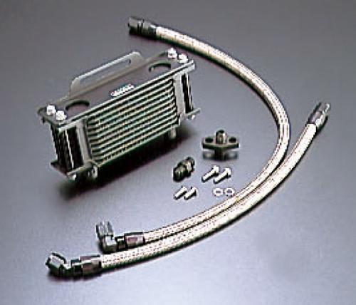 SRX400(85~86年) オイルクーラーキット ストレート #6 4.5-7R ブラック仕様 ACTIVE(アクティブ)