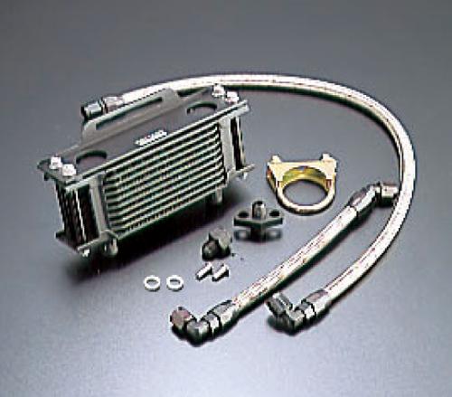 SR400(78~05年)/SR500(78~00年) オイルクーラーキット(縦)ストレート #6 9-7R ブラック仕様 ACTIVE(アクティブ)