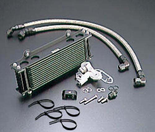 GSX1100S(KATANA)81~93年 オイルクーラーキット(サイド廻し)ストレート #8 9-10R ブラック仕様 (サーモ対応キット) ACTIVE(アクティブ)