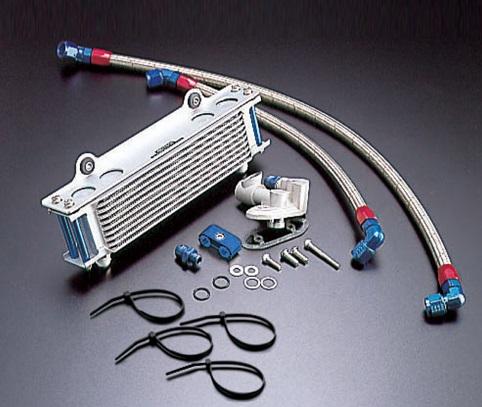GSX1100S(KATANA)81~93年 オイルクーラーキット(サイド廻し)ストレート #6 9-13R (サーモ対応キット) ACTIVE(アクティブ)