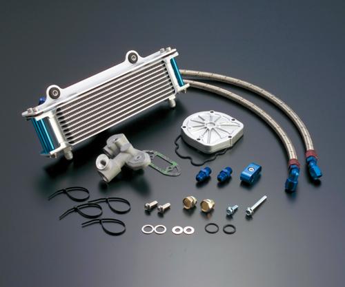 GSX1100S(KATANA)81~00年 ストレートオイルクーラー #6 9-10/13R用ホースセット(サイド廻し)ブラック仕様 (サーモ対応セット) ACTIVE(アクティブ)